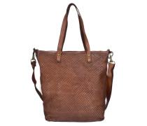Bardana Shopper Tasche Leder 28 cm braun