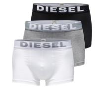 Pants im 3er-Pack 'Kory' graumeliert / schwarz / weiß