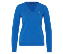 Pullover aus Lammwolle blau