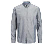 Formelles Slim-Fit-Langarmhemd grau