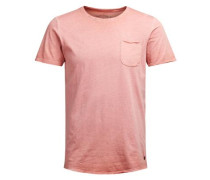 T-Shirt in Bleich-Optik rot