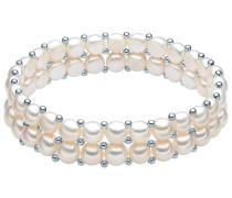 Armband mit Süßwasser-Zuchtperlen und Sterlingsilber-Zwischenkügelchen perlweiß
