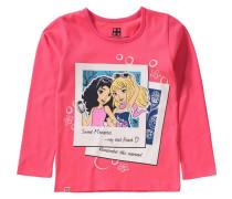 Langarmshirt Friends für Mädchen pastellgelb / pink / schwarz / weiß