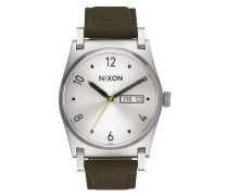 Armbanduhr 'Jane Leather' (Gehäuse: 35 mm) khaki / silber