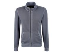Sweatjacke in Garment Dye grau