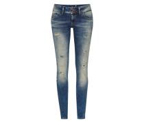 Stretchige Skinny Jeans 'Molly' blau