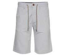 Chino-Shorts 'slim yarn dye chino bermuda' grau