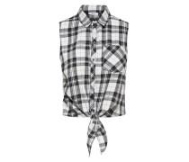 Hemd ohne Ärmel Kariertes schwarz / weiß