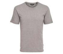 Strukturiertes T-Shirt grau