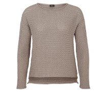 Lässiger Grobstrick-Pullover braun