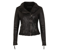 Lederjacke 'Really Hot' schwarz