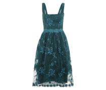 Besticktes Kleid grün
