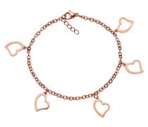 Armband »Herzen« rosegold