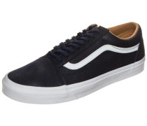 'Old Skool Leather' Sneaker Herren schwarz