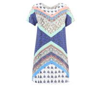 Patchwork-Kleid mit Blumenmuster mischfarben