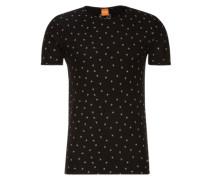 Bedrucktes T-Shirt 'Toughts 1' schwarz / weiß