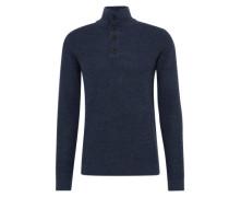 Pullover 'basic troyer' blau