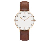 Damenuhr 'Classic Collection St. Mawes' kastanienbraun / rosegold