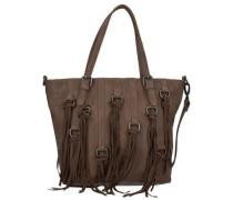 Crissy Vintage Shopper Tasche 40 cm braun