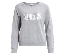 Sweatshirt graumeliert / silber