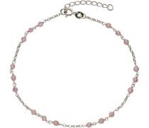 Fußkette mit Kristallsteinen pink