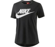 T-Shirt 'Essential High Brand Read' schwarz / weiß