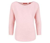 Gerippter Fledermauspullover rosa