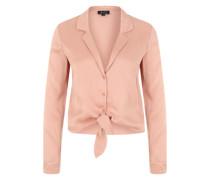 Geknotete Revers-Bluse rosé