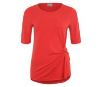 T-Shirt 'VMGrey' mit Drapierung rot
