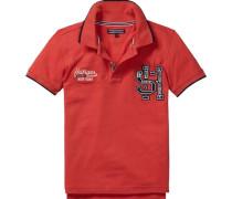 Polo »Badge Polo S/s« orangerot