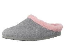 Pantoffel 'kaprun Happy' grau / rosa
