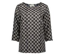 Bluse im trendigen Allover-Muster hellbeige / schwarz