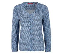 Tunikabluse mit Allover-Muster blau