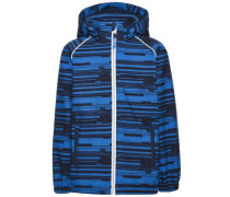 Softshell-Jacke Komplett bedruckte Alfa- blau / schwarz