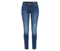 Skinny Jeans mit Waschung blue denim