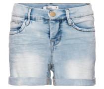 Schmale Jeansshorts hellblau
