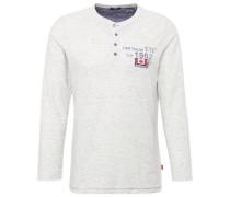 T-Shirt Shirt mit Print und Patch weiß