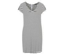 Jerseykleid mit Cut-Outs schwarz / weiß