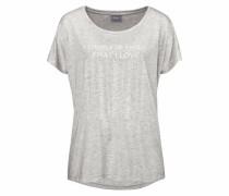 T-Shirt 'Raluao' graumeliert / weiß