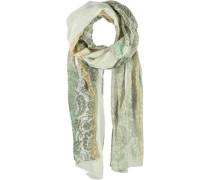 Viskose Schal beige / grün