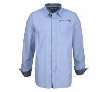 Polo Team Streifenhemd blau
