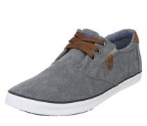 Sneaker aus gewaschenem Canvas braun / grau