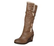 Stiefel mit Keilabsatz hellbraun