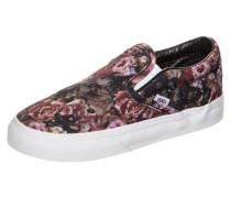 Classic Slip-On Moody Floral Sneaker Kleinkinder rot / schwarz