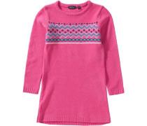 Kinder Strickkleid mischfarben / pink