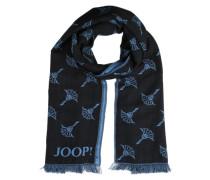 Schal mit Mohnblumenprint marine / schwarz