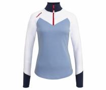 Sweatshirt navy / taubenblau / weiß