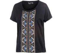 'Sail Away' T-Shirt Damen hellblau / gelb / schwarz / weiß