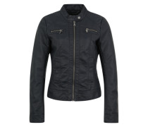 Jacke in Leder-Optik 'Bandit' navy