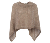 Poncho in Strickqualität cappuccino